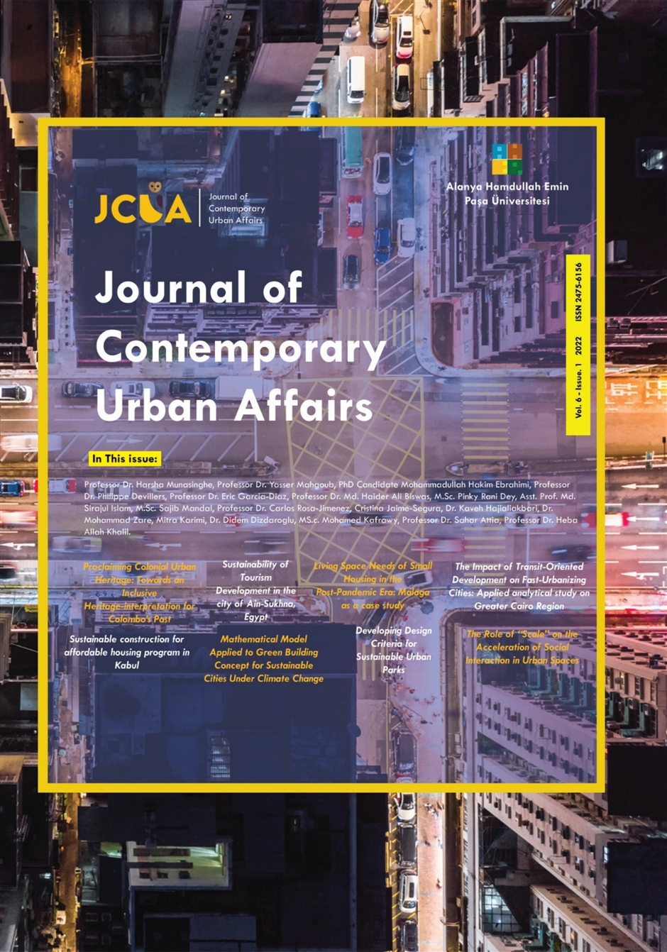 Urban planning, Spatial planning, Urban Design, Urban, Sustainability, Globalization, Pandemic and Urban Public Spaces, Conflict and Divided Territories, Emerging Cities, Morphology, Infra Habitation, Slums, Affordable Houses, Gated Communities, Revitalization, Regeneration and Urban renewal, Quality of Life, Rapid Urbanization, Urban Sprawl, Journal of Contemporary urban affairs.